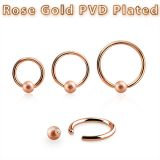 Rengas BCR 1,2 mm Rosegold Frosted Ball