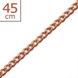 "Hopeaketju Riipuksille ""Rosegold Silver Plain Single Chain"" 45 cm"