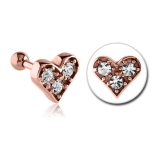 "Rustokoru ""Rose Gold Jeweled Heart"""