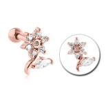 "Rustokoru ""Rose Gold Jeweled Flower"""
