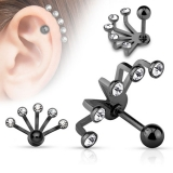 "Rustokoru ""Five Crystal Set Fan Hanging Tragus"""