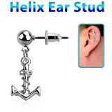 """Rustokoru """"Helix Ear Stud With Anchor"""""""