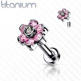 "Titaani Rustokoru ""CZ Set Flower Top"""