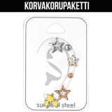 "Rustokorvakoru 6 kpl ""Star Set with Cubic Zirconia"""