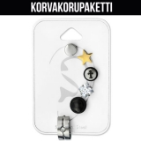 "Rustokorvakoru 6 kpl ""Mix Surgical Steel Unisex Ear Stud Set"""