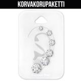 "Rustokorvakoru 6 kpl ""Surgical Steel CZ studs Set"""