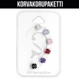 "Rustokorvakoru 6 kpl ""5mm Cubic Zirconia Ear Stud Set"""