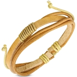 "Nahkaranneke ""Fashion Multi Wrap Rope Adjustable Brown Leather Bracelet"""