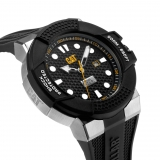 Caterpillar-Kello Shockmaster Steel / Black dial silicone 48 mm SF.141.21.111