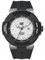 Caterpillar-Kello Shockmaster Steel/ Silver dial /Silicone 48 mm SF.141.21.212