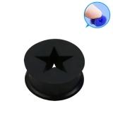 Silicone Star Plug, Musta