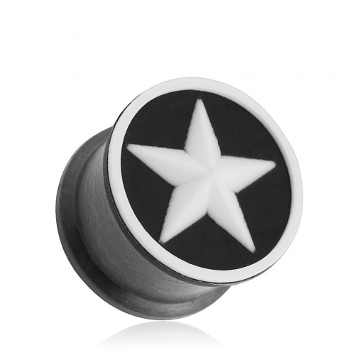 White Star Flexible Silicone Double Flared Plugs