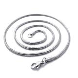 """316L Kirurginteräs Kaulaketju """"Round Snake Link Chain"""" 4 eri pituutta"""