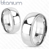 "Titaani Kihlasormus ""Dome Center Band Ring"""