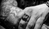 "Northern Viking Jewelry-Sormus ""Black Thor's Hammer Ring"""