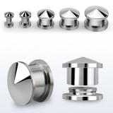 316L steel internally threaded spiked top plug
