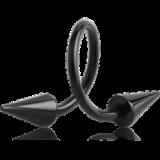 """Spiraali 1,6 mm Long Cones """"Blacksteel"""""""
