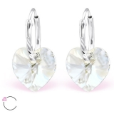 "Hopeiset Swarovski-korvakorut ""La Crystale® Moonlight Heart"""