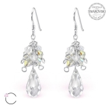 "Hopeiset korvakorut ""La Crystale Clear Chandelier Earrings with Swarovski®"""