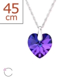 "Swarovski®-Kaulakoru ""Silver Heart Heliotrope Necklace"""