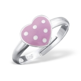 "Lasten Hopeasormus ""Silver Heart Ring Adjustable with Epoxy"""