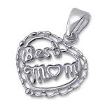 "Hopeinen Sydänriipus ""Best Mom #1"""