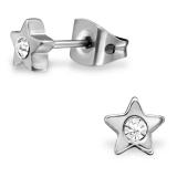 "Titaani Korvakorut ""Titanium Star With Crystal"""