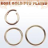 Rosegold Rengas Hinged Segment Ring 1,2 mm