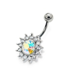 "Napakoru ""Crystal Flower with Cubic Zirconia"""