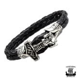 "Northern Viking Jewelry-Rannekoru ""Viking God Thor's Hammer Bracelet"""
