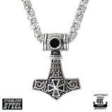 "Northern Viking Jewelry-Riipus ""Tribe Cross Thor's Hammer"""