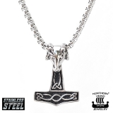 "Northern Viking Jewelry-Riipus ""Rams Head Thor's Hammer"""