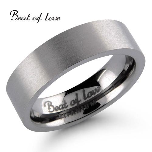 Beat of Love titaanisormus flakka 6mm (TI-031-6mm)