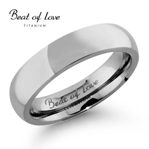 Beat of Love titaanisormus  5 mm (TI-063-5mm)