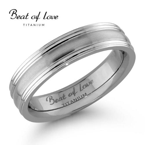 Beat of Love titaanisormus 5 mm (TI-102-5mm)