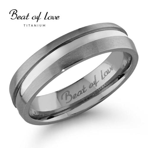 Beat of Love titaanisormus 5 mm (TI-905-5mm)