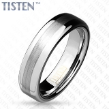 6 mm Brushed Metal Center Dome Tisten Ring