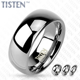 8 mm Glossy Mirror Polished Tisten Ring