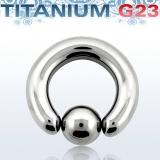 Rengas BCR 6 mm Titaani (Grade 23)