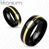 "Titaani Kihlasormus ""Gold Line Couple Ring"""