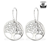 "Northern Viking Jewelry-Korvakorut ""Silver Tree Of Life Earrings"""