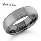 Beat of Love -sormus Tungsten harjattu 6mm (TS-134-6mm)