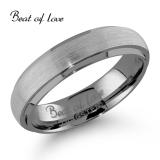 Beat of Love -sormus Tungsten harjattu 5mm (TS-323-5mm)