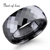 Beat of Love -sormus Tungsten viistoleikattu 8mm (TS-436-8mm)