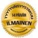 """Titaani Kihlasormus """"Ruusukulta/Harjattu, Leveys 6 mm"""""""