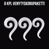 "Ventyskoru Starter Kit 3 mm - 10 mm S-Spiral ""White""  6 kpl"