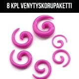 "Ventyskoru Starter Kit 1,6 mm - 10 mm Spiral ""Purple""  8 kpl"