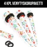 "Ventyskorupaketti ""4 kpl Multi Colored Stars"""