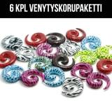 """Venytyskoru Starter Kit 3 mm - 10 mm Spiral """"Mix""""  6 kpl"""