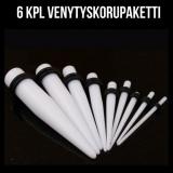 """Venytyskoru Starter Kit 3 mm - 10 mm Puikko """"White""""  6 kpl"""